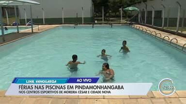 Piscinas públicas são atrações nas férias em Pinda - Crianças podem se divertir nos Centros Esportivos de Moreira César e Cidade Nova