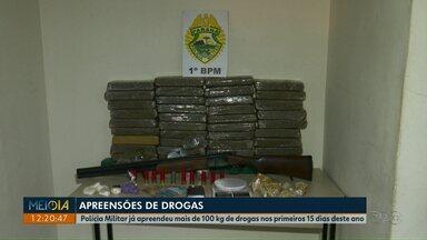 Em 15 dias, polícia apreende 100 quilos de drogas em Ponta Grossa - Na terça-feira (15), três pessoas foram presas por tráfico de drogas em Ponta Grossa.