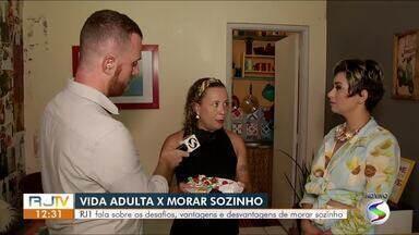 Moradora de Barra Mansa fala sobre os hábitos de morar sozinha - Segundo o SPC, mais de 10 milhões de pessoas moram sozinhas em todo o país. O Rio de Janeiro é o estado com mais moradores nesta condição.