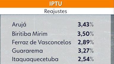 IPTU passa por reajustes nas cidades do Alto Tietê - Os reajustes do imposto variam de 2,5% e 3,5%. Biritiba Mirim é o município com o maior percentual do reajuste (3,5%).
