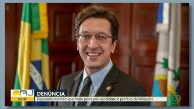 Deputado mantém escritório para pré-candidato a prefeito de Nilópolis com dinheiro público - Wander Oliveira é aliado político de Gustavo Schmidt e está tendo despesas de pré-campanha pagas pelo deputado do PSL.