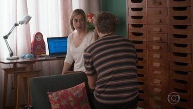 Lígia permite que Rita veja Nina com Filipe - Filipe comemora e agradece a compreensão da mãe. Cida observa