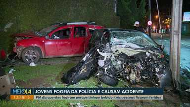 Jovens fogem da polícia e causam grave acidente em via rápida de Curitiba - Segundo a polícia o motorista tinha bebido