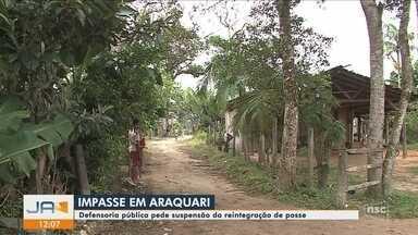 Defensoria pública pede suspensão da reintegração de posse em Araquari - Defensoria pública pede suspensão da reintegração de posse em Araquari