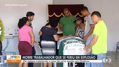 Corpo de homem que se feriu em explosão é velado em Goiânia - Família quer que ele seja enterrado no estado do Pará.