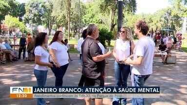 Campanha Janeiro Branco orienta sobre saúde mental em Presidente Prudente - Psicólogos prestam atendimentos à população neste sábado (18).