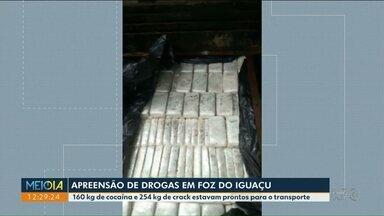 BPFRON faz apreensão histórica de drogas em Foz - 160 kg de cocaína e 254 kg de crack estavam prontos para o transporte.