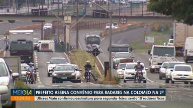 Prefeito assina convênio para radares na Colombo na 2ª - Convênio com a PRF será assinado pelo prefeito Ulisses Maia na segunda-feira.