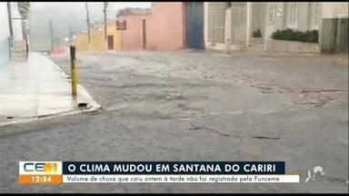 Moradores registram forte chuva em Santana do Cariri - Saiba mais em g1.com.br/ce