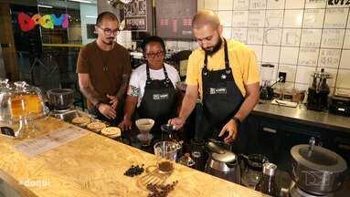 Daqui dá dicas sobre grãos e ensina truques para preparar café - Programa levou dona Celsy, que trabalha vendendo café no Centro Histórico, para conhecer os truques do empreendedor Thiago Gléria.