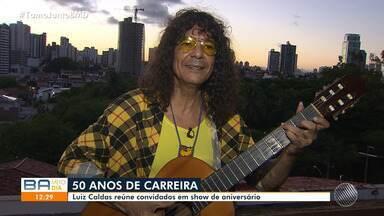 Luiz Caldas fala sobre comemoração especial dos 50 anos de carreira - O artista faz um show no domingo (19), em Salvador, com convidados especiais.