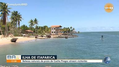 Verão: Baianos e turistas lotam as praias da Ilha de Itaparica na alta temporada - Destino é um dos mais procurados do estado nesta época do ano.