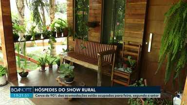 Show Rural: com hotéis lotados, cascavelenses aproveitam pra alugar casas e lucrar - Cerca de 90% dos quartos de hotéis da cidade estão ocupados para feira, segundo o setor de hotelaria.