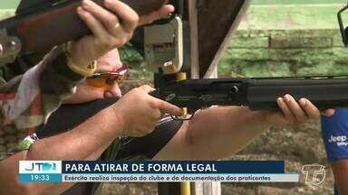Exército realiza inspeção do clube de tiros em Santarém - Documentação dos praticantes também foi fiscalizada.