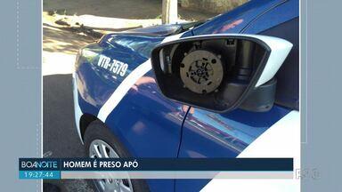 Homem é preso após danificar viatura da Guarda Municipal em Londrina - Perseguição começou na Quintino Bocaiúva e foi até a Av. Dez de Dezembro.