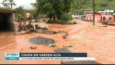 Vargem Alta vai decretar estado de calamidade pública após temporal, no Sul do ES - Trinta e uma comunidade foram afetadas.