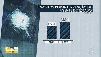 Homicídios caem, mas mortes pela polícia batem recorde em 2019 - Instituto de Segurança Pública divulgou os números da violência em 2019.
