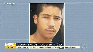Itiúba: Corpo de jovem que se afogou em barragem é encontrado - A vítima tinha 19 anos e estava mergulhando junto com o irmão, quando faleceu.