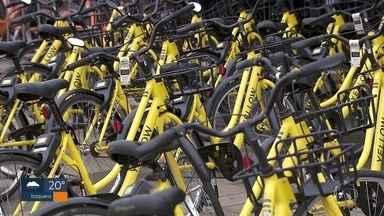Empresa recolhe bicicletas amarelas compartilhadas das ruas de SP - Serviço de patinete continua, segundo a Grow.