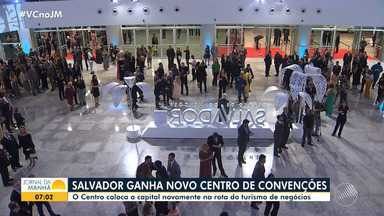 Saiba como foi a inauguração do novo Centro de Convenções de Salvador - O evento, que aconteceu na noite de quinta-feira (23), foi restrito para convidados.