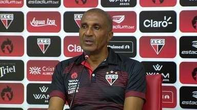 Assista à apresentação de Cristóvão Borges no Atlético-GO - Treinador falou em entrevista coletiva neste sábado (25).