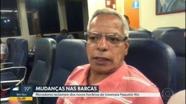 Moradores reclamam dos novos horários da travessia das Barcas - O intervalo aumentou e quem precisa do transporte não está nada satisfeito.
