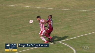 Grandes times do Rio vencem no Campeonato Carioca - Fluminense, por exemplo, goleou o Bangu por 5x0.