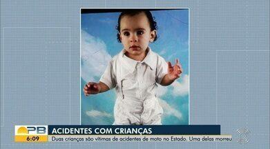 Duas crianças são vítimas de acidentes de moto no Estado - Confira os detalhes com o repórter Ítalo Di Lucena.