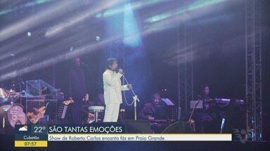Show de Roberto Carlos encanta fãs em Praia Grande - Apresentação foi realizada neste sábado (25).