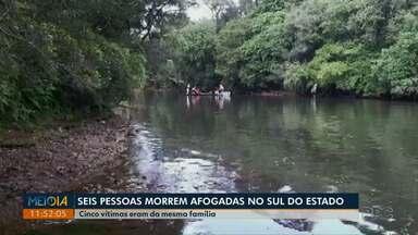 Cinco pessoas da mesma família morrem afogadas em rio de General Carneiro - Vítimas se afogaram no Rio Jangada, na tarde de domingo (26).