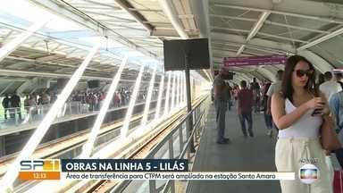 Obra na linha 5 Lilás deve melhorar transferêcia para a CPTM na estação Santo Amaro - Obra deve demorar dois anos para ficar pronta. Plataformas, mezaninos e passarelas devem ser ampliadas