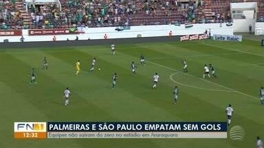 Partida entre Palmeiras e São Paulo termina empatada pelo Campeonato Paulista - Jogo não teve gols, mas apresentou bons lances.