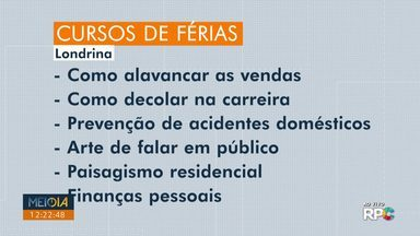 Universidades estão com inscrições abertas para cursos de férias, em Londrina - São mais de 5 mil opções de cursos.