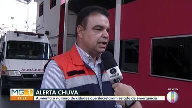 Sobe para 101 o número de cidades em situação de emergência no estado de Minas - Até agora 44 mortes foram registradas em todo estado, e 19 pessoas continuam desaparecidas.