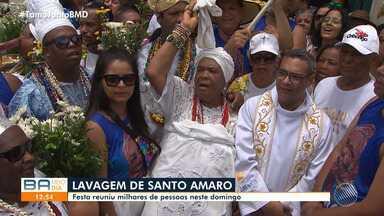 Lavagem de Santo Amaro reúne milhares de pessoas na cidade, na região do Recôncavo Baiano - A festa foi realizada no domingo (26); confira.