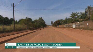 Moradores pedem pavimentação da ruas do bairro Nova Cidade - No inverno a situação piora com a presença de lama e buracos
