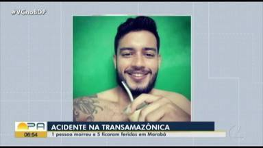 Uma pessoa morre e cinco ficam feridas em acidente na Transamazônica - Acidente Marabá.