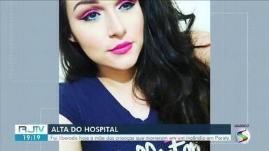 Mãe das crianças mortas em incêndio em Paraty tem alta - Dara Cristina de Almeida Santos Souza sofreu queimaduras pelo corpo. O ex-companheiro da vítima é o principal suspeito do crime.
