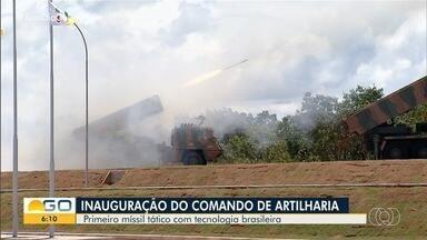 Vice-presidente participa de inauguração do Comando de Artilharia do Exército, em Formosa - Unidade vai trabalhar no desenvolvimento do primeiro míssil tático com tecnologia brasileira.