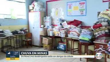 Em Nova Lima 30 moradores ainda estão desalojados e dormem em uma escola da cidade - A região do matadouro foi a mais atingida, foram cerca de 150 milímetros em pouco tempo de chuva.