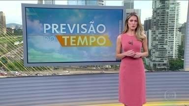 Veja a previsão do tempo para esta quinta-feira (30) em todo o país - Chuva deve ser forte no centro-sul de Minas. Em São Paulo, a previsão é de chuva à tarde. No Espírito Santo, o tempo fica firme em grande parte do estado. Tem risco de temporal ao longo do dia em todo o Sul do país.