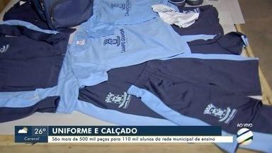 Prefeitura entrega uniforme e calçados para alunos da rede municipal de Campo Grande - São mais de 500 mil peças para 110 mil alunos