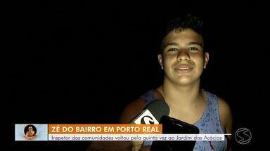 Zé do Bairro: moradores estão sem luz no bairro Jardim das Acácias, em Porto Real - Inspetor das comunidades volta pela quinta vez no local. População está sem fornecimento de energia há oito meses.