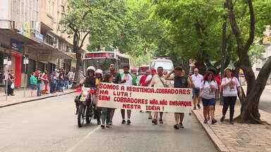 Rodoviários protestam contra projeto que prevê mudanças no transporte público da capital - Câmara de Vereadores convocou sessão extraordinária para votar propostas do Executivo nesta quinta-feira (30).