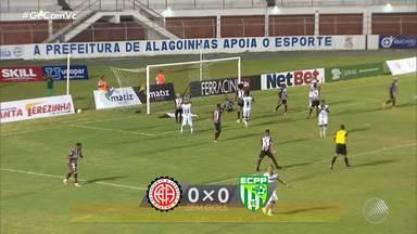 Atlético de Alagoinhas e Conquista terminam a terceira rodada do 'Bainão' sem gols - Confira os melhores momentos da partida.
