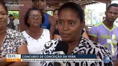Denúncia: primeiros lugares de concurso são ocupados por parentes de vereadores - O caso é na cidade de Conceição de Feira, onde o exame foi feito pela prefeitura. A situação ainda está sendo investigada.