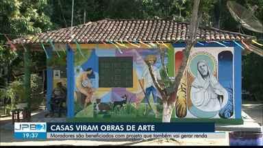 JPB2JP: Casas viram obras de arte em comunidade da cidade de Areia - Moradores são beneficiados com projeto que também vai gerar renda.