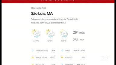 Veja as variações das temperaturas no Maranhão - Confira a previsão do tempo nesta sexta-feira (31) em São Luís e também no interior do estado.