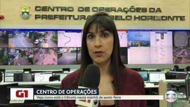 G1 no BDMG: Chuva causa mudanças no tráfego de Belo Horizonte - Temporal de terça-feira destruiu ruas e avenidas.