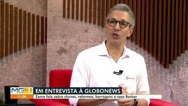 Governador Romeu Zema participa de reunião para falar dos estragos da chuva em Minas - Em reunião, o Governador discutiu sobre as chuvas, reformas e barragens.